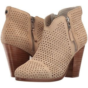 RAG & BONE MARGOT BOOT IN STUCCO SUEDE PERFORATED